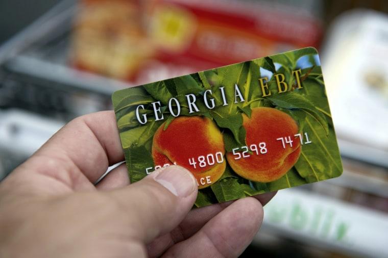 A card for Georgia's food stamp program.