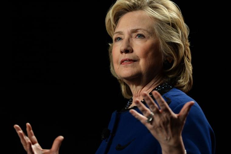 Hillary Clinton speaks at the University of Miami, Feb. 26, 2014, in Miami, Fla.