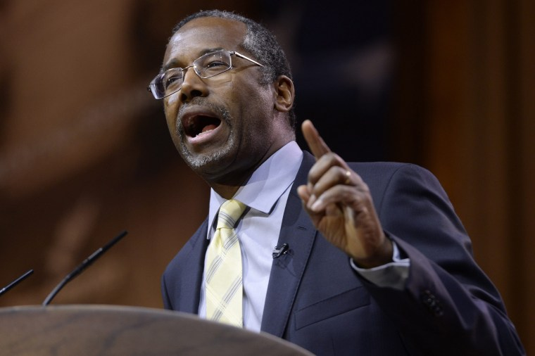 Dr. Ben Carson speaks at the 41st Annual Conservative Political Action Conference (CPAC) in National Harbor, Maryland, March 8, 2014.