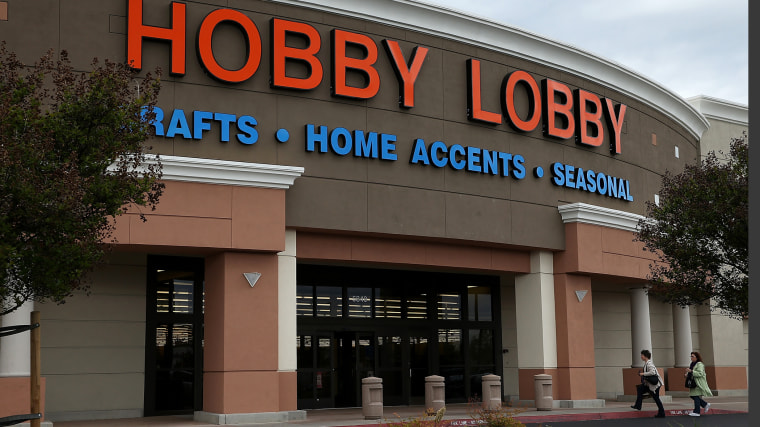 Customers enter a Hobby Lobby store on March 25, 2014 in Antioch, California.