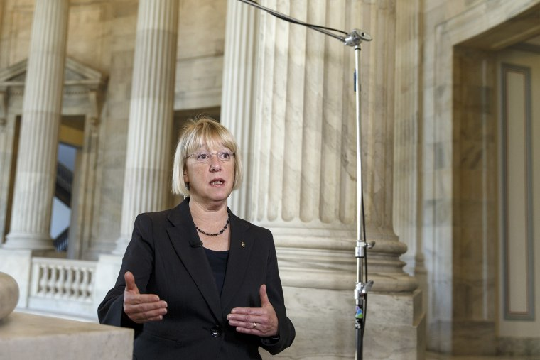 Senate Budget Committee Chairwoman Patty Murray, (D-WA), during an interview on Capitol Hill in Washington on Dec. 18, 2013.