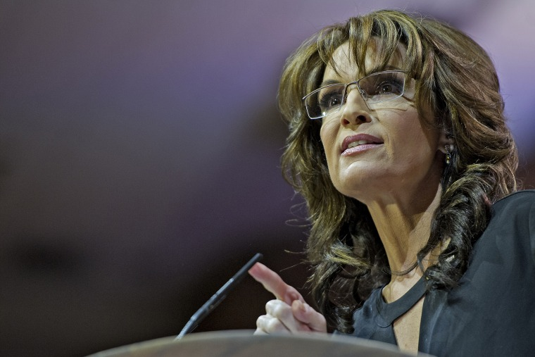 Sarah Palin speaks at CPAC in National Harbor, Maryland, March 8, 2014.