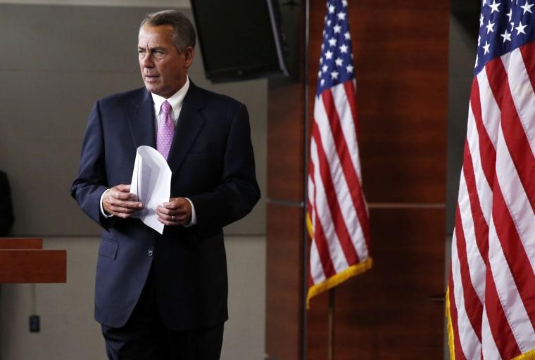 Speaker of the House John Boehner on Capitol Hill in Washington, March 26, 2014.