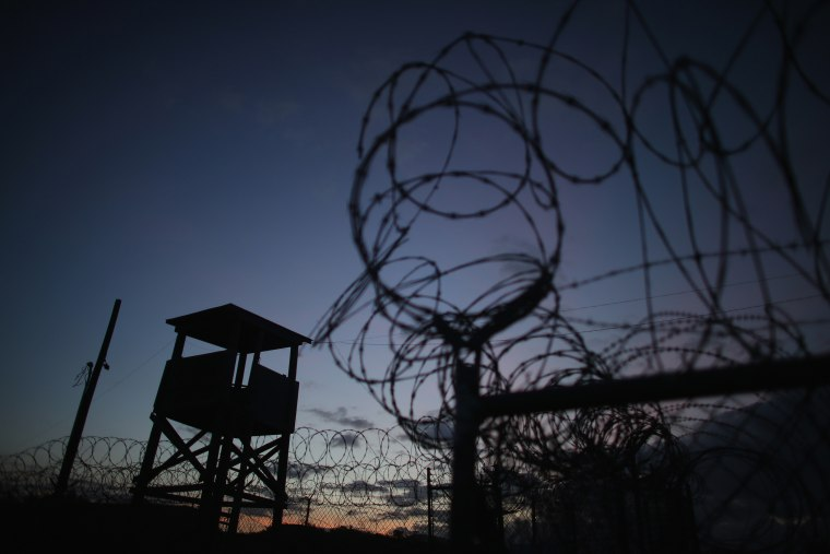 A watch tower is seen in the currently closed Camp X-Ray, which was the first detention facility to hold 'enemy combatants' at the U.S. Naval Station, on June 27, 2013 in Guantanamo Bay, Cuba.