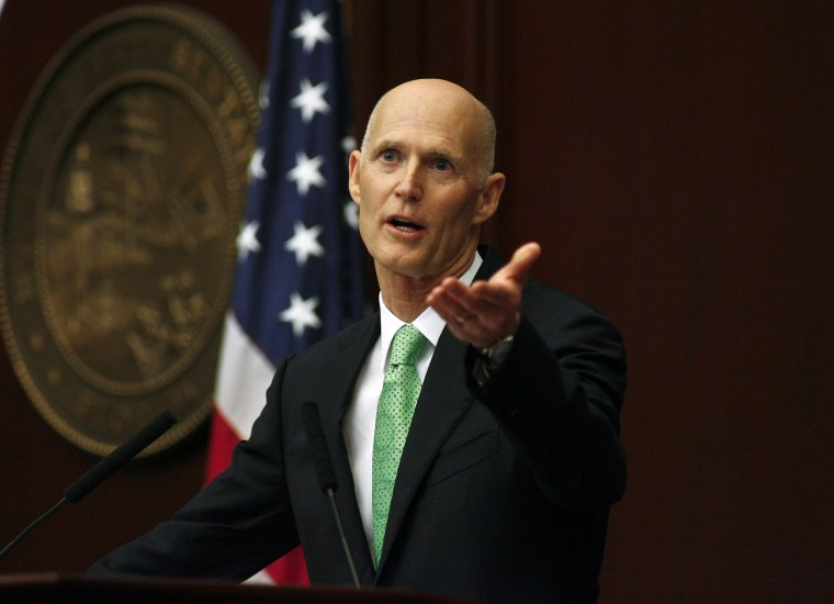 Florida Gov. Rick Scott during his State of the State speech Tuesday, March 4, 2014.