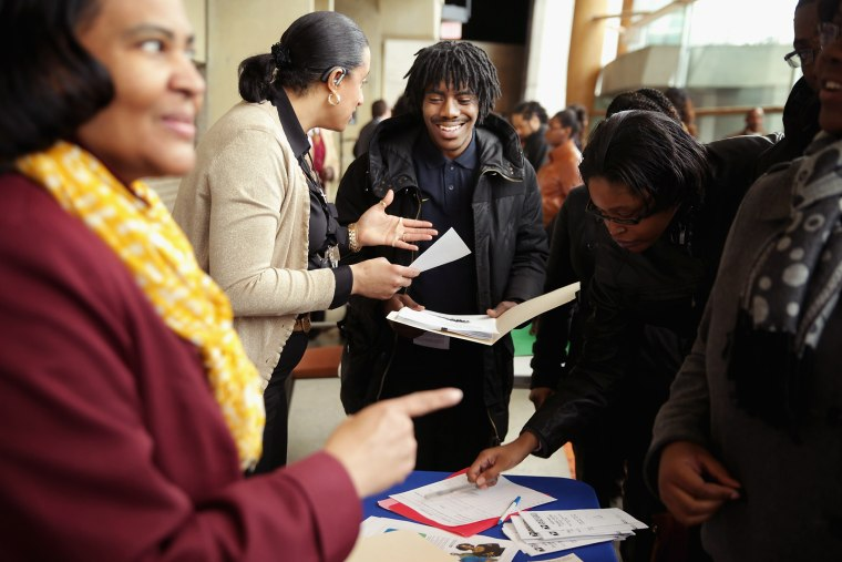 Employment Seekers Attend Job Fair In Washington DC
