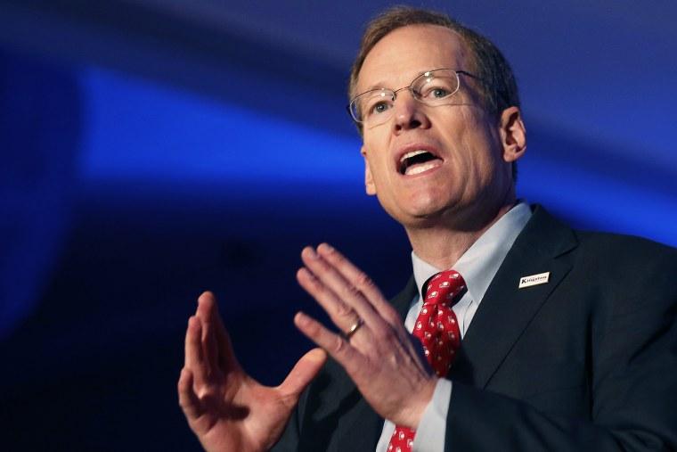 Republican candidate for U.S. Senate Rep. Jack Kingston, R-Ga., speaks during a forum, Jan. 27, 2014, in Atlanta, Ga.