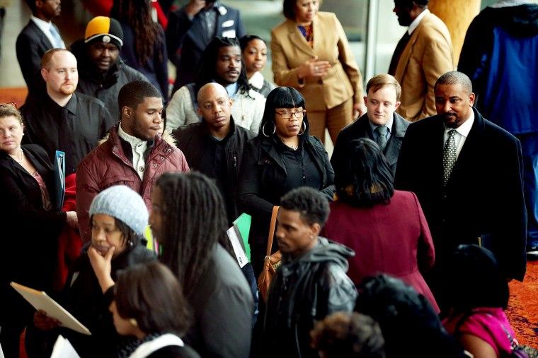 Employment Seekers Attend Job Fair In Washington DC
