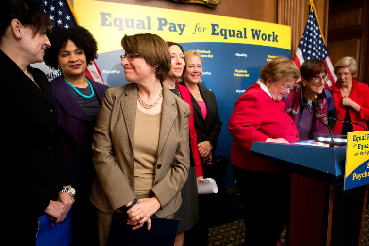 Democratic Legislators Hold News Conference To Urge Congress To Pass The Paycheck Fairness Act