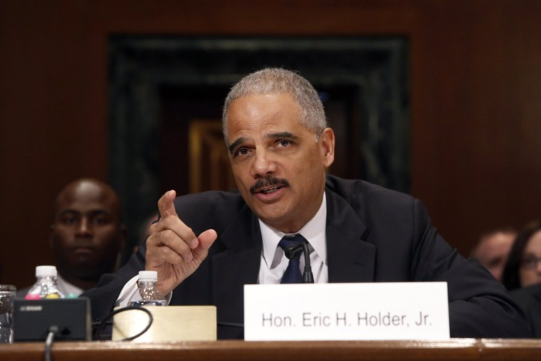 U.S. Attorney General Eric Holder testifies on Capitol Hill in Washington April 3, 2014.