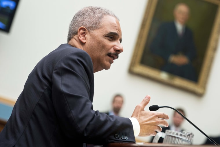 US Attorney General Eric Holder testifies before a House Judiciary Committee, April 8, 2014.