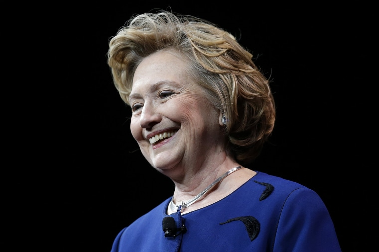 Hillary Clinton delivers the keynote address at the 2014 Marketing Nation Summit in San Francisco, April 8, 2014.