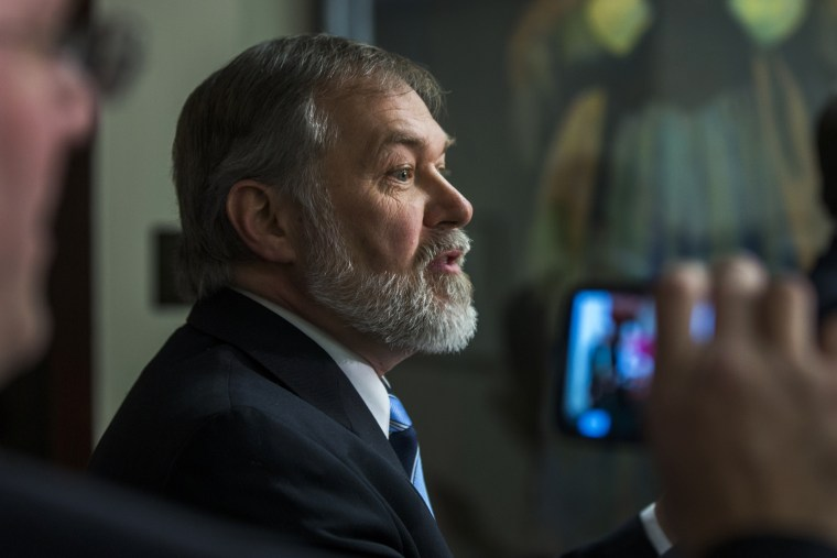 Scott Lively speaks during a news conference at the National Press Club, Feb. 21, 2014, in Washington, D.C.