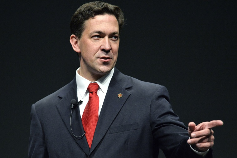 U.S. Senate candidate Chris McDaniel (R-Ms), speaks to a gathering at FreePAC Kentucky, April 5, 2014, at the Kentucky International Convention Center in Louisville, Ky.