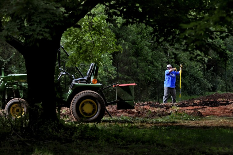 Mark Mills is taking part in a program where new farmers use part of Montgomery County's agricultural reserve to start a farm in Poolsville, Maryland.