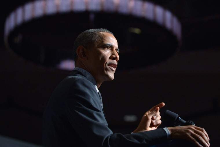 President Barack Obama addresses the National Action Networks 16th Annual Convention, April 11, 2014, in New York, N.Y.