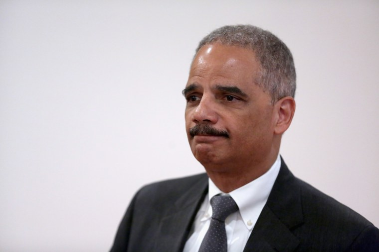 Attorney General Eric Holder speaks at an event, April 16, 2014 in Washington, DC.