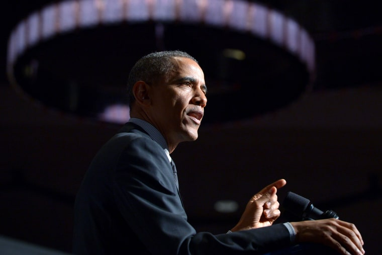 US President Barack Obama speaks hotel in New York on April 11, 2014.