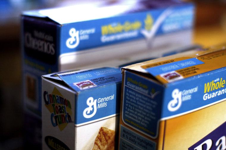 General Mills cereals.