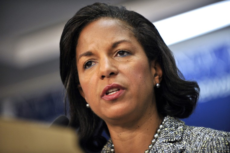 Susan Rice speaks at an event, Sept. 9, 2013, in Washington, D.C.