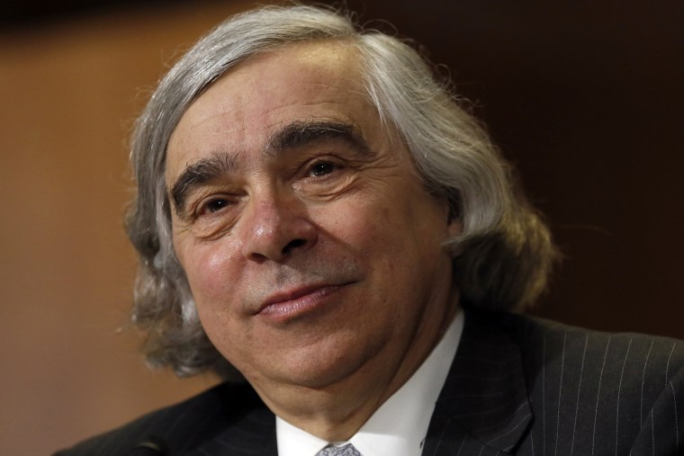 Ernest Moniz testifies before a Senate Energy & Natural Resources Committee hearing on his nomination to be energy secretary on Capitol Hill in Washington April 9, 2013.