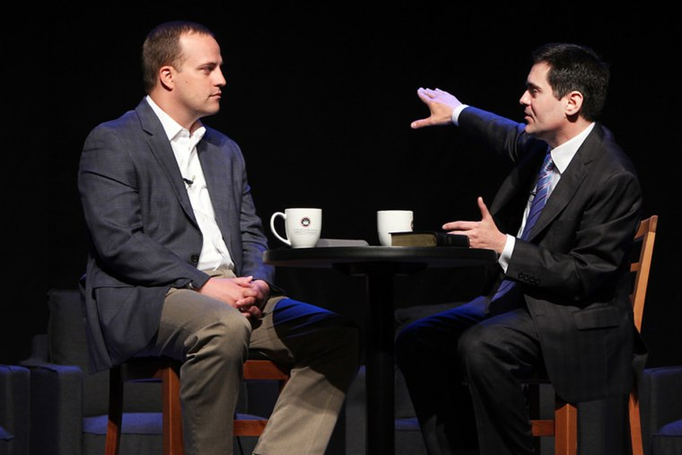 Phillip Bethancourt speaks with Dr. Russell D. Moore at the ERLC Leadership Summit, April 21, 2014.