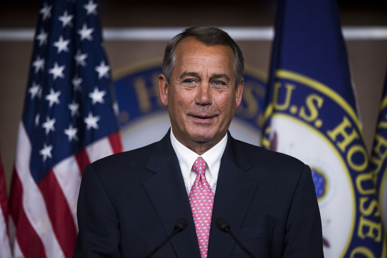 Speaker of the House John Boehner, R-Ohio, holds his weekly press briefing, Feb. 27, 2014, in Washington, D.C.