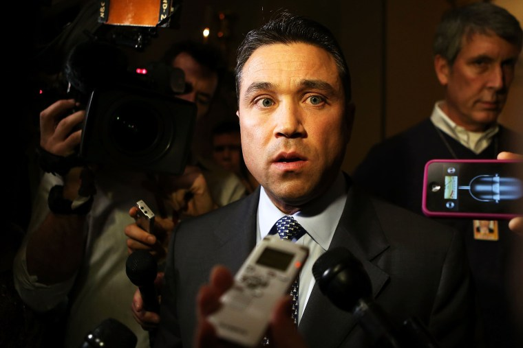Michael Grimm (R-NY) is expected to be indicted by the U.S. attorney in New York after being investigated for campaign finance violations, Apr. 25, 2014.