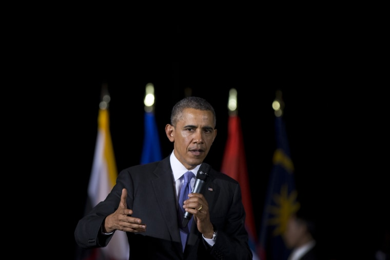 President Barack Obama speaks during a town hall meeting at Malaya University in Kuala Lumpur, Malaysia, April 27, 2014.