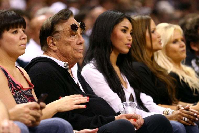 Donald Sterling, team owner of the Los Angeles Clippers, watches Game One of the Western Conference Finals of the 2013 NBA Playoffs, May 19, 2013, in San Antonio, Texas.