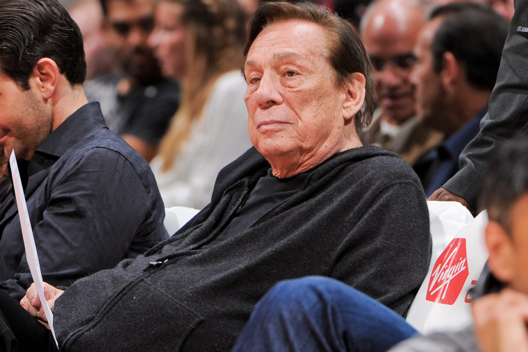 Donald Sterling, owner of the Los Angeles Clippers, looks on as his team plays against the Minnesota Timberwolves at Staples Center on April 10, 2013 in Los Angeles, Calif.