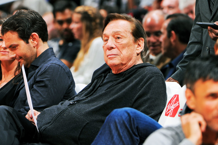 Donald Sterling looks on as the Los Angeles Clippers plays against the Minnesota Timberwolves, April 10, 2013.
