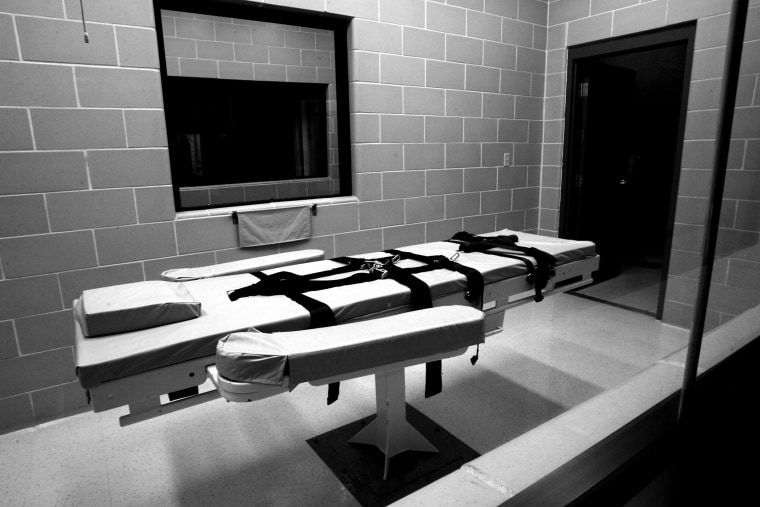 The lethal injection chamber at Eyman Prison in Phoenix, Ariz.