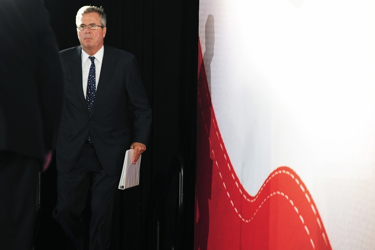 Jeb Bush arrives for the Faith and Freedom Coalition Road to Majority Conference in Washington, June 14, 2013.