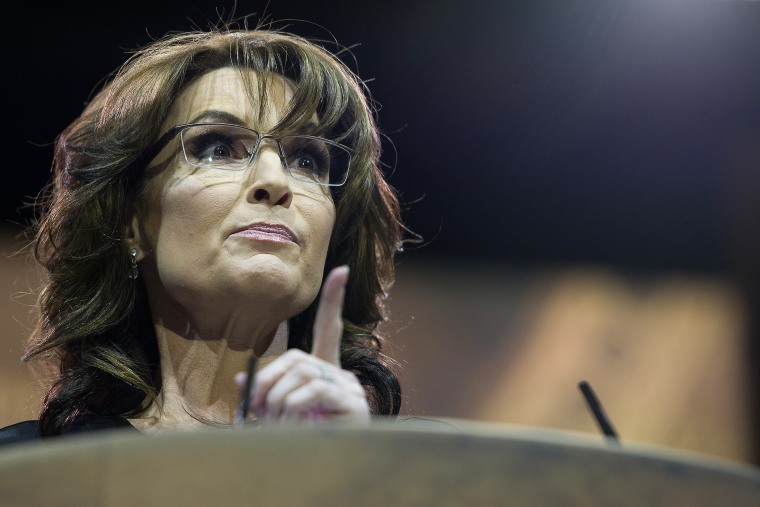 Former Alaska Governor Sarah Palin speaks at the Conservative Political Action Conference (CPAC) at the Gaylord National at National Harbor, Maryland on March 8, 2014.