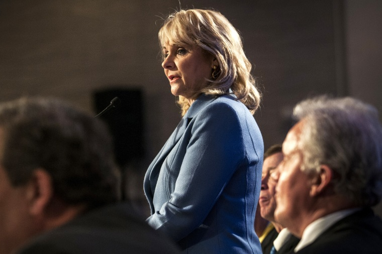 Oklahoma Gov. Mary Fallin, chair of the National Governors Association, opens the annual winter meeting of the National Governors Association in Washington, Feb. 22, 2014.