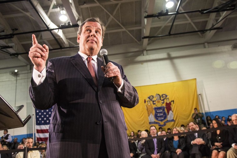 New Jersey Gov. Chris Christie holds a Town Hall meeting in Fairfield, N.J.
