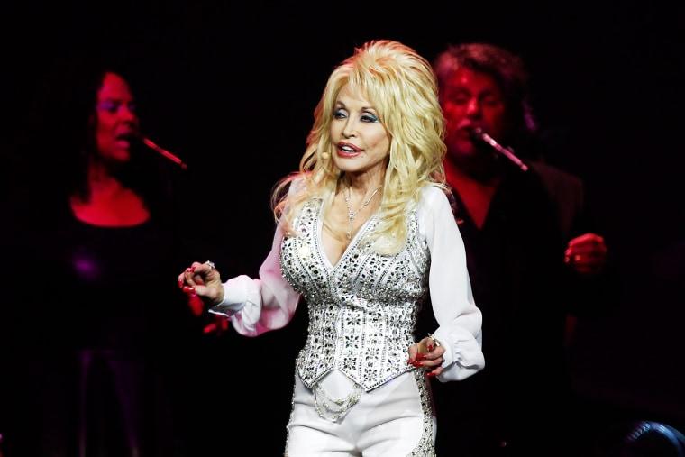 Dolly Parton performs live in Perth, Australia, Feb. 27, 2014.