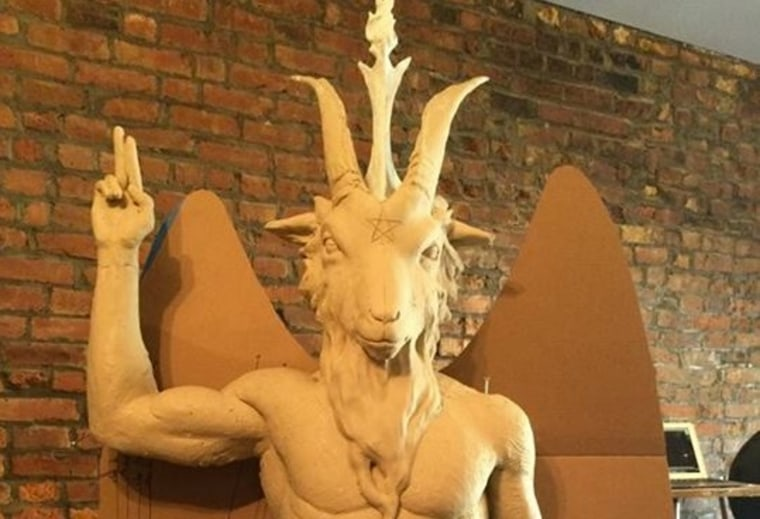 The cast model for a proposed monument for Satanists for the Oklahoma State Capitol.