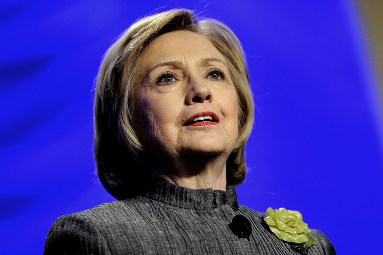 Former Secretary of State Hillary Rodham Clinton delivers remarks on May 6, 2014 in National Harbor, Maryland.