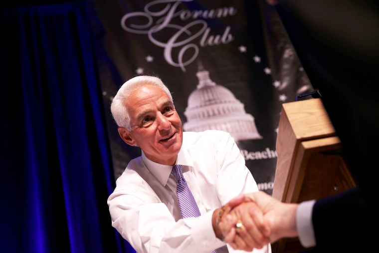 Former Florida Republican Governor Charlie Crist in West Palm Beach, Florida, Apr. 14, 2014.