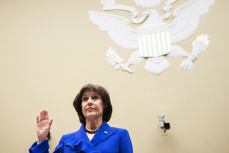 Lois Lerner is re-sworn-in for a continuation of a hearing of the House Oversight and Government Reform Committee on Capitol Hill March 5, 2014.