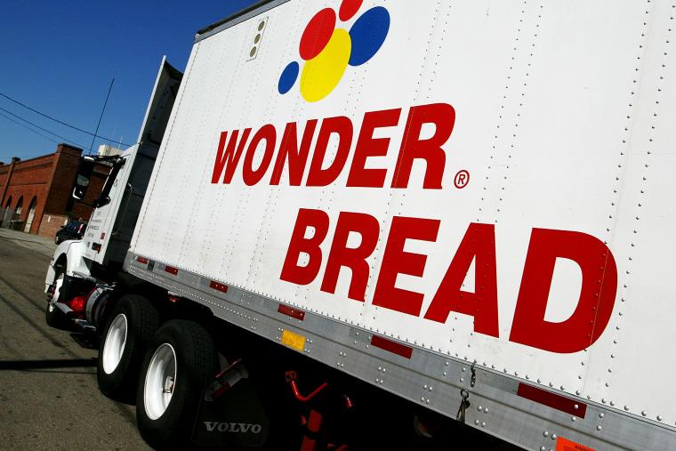 A truck outside of the Wonderbread bakery in San Francisco.