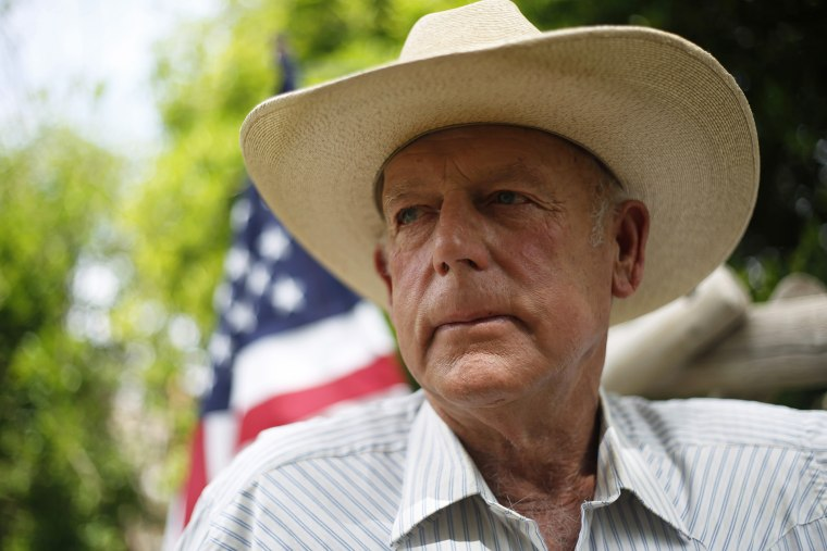 Rancher Cliven Bundy poses at his home in Bunkerville, Nevada, April 11, 2014.