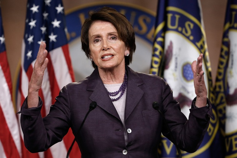 House Minority leader Rep. Nancy Pelosi (D-CA) speaks answers questions during a press conference on May 9, 2014 in Washington, DC.