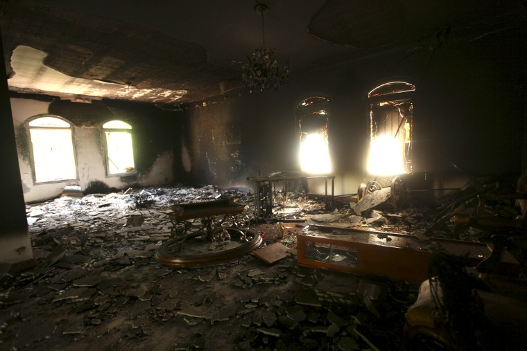 An interior view of the U.S. consulate in Benghazi, Libya on Sept. 12, 2012.