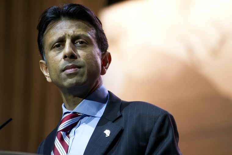 Louisiana Gov. Bobby Jindal speaks at the Conservative Political Action Committee annual conference in National Harbor, Md., March 6, 2014.