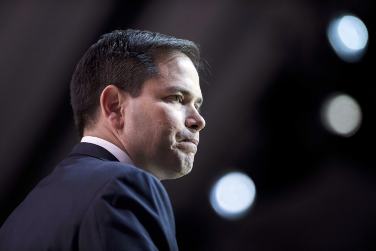 Senator Marco Rubio (R-Fla.) speaks during the Conservative Political Action Conference, March 6, 2014, in National Harbor, Md.