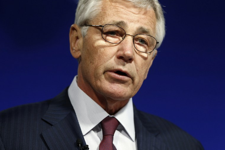 U.S. Secretary of Defense Chuck Hagel delivers remarks on NATO expansion and European security at the Wilson Center in Washington, D.C. May 2, 2014.