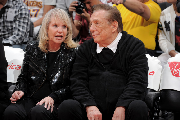 Los Angeles Clippers owner, Donald Sterling and Rochelle Sterling, attend a game against the Indiana Pacers at Staples Center on April 1, 2013 in Los Angeles, Calif.